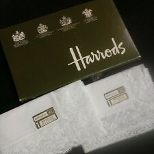 2 Nottingham Lace Antique Handkerchiefs from Harrods United Kingdom with tags