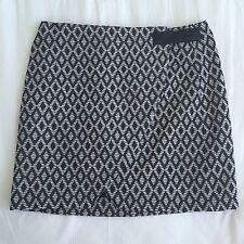 Wrap Skirt - Sportsgirl - Mono Diamond Mini - Size 10