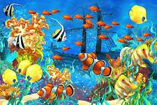 "Tropical Fish Aquarium Underwater  Art Print Poster 36"" x 24"""