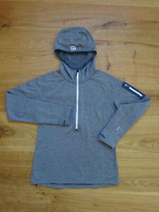 Ortovox Damen Fleece Light Half-Zip-Pullover mit Kapuze, grey, S.