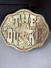 "John Wayne BRASS ""The Duke"" Solid Metal Belt Buckle"