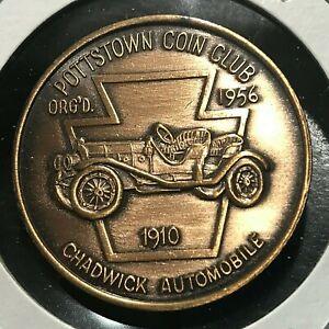 1967 POTTSTOWN COIN CLUB 1910 CHADWICK AUTO UNCIRCULATED TOKEN