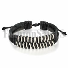 Men's Women's Vintage Trible Handmade Leather Cuff Bracelet Wristband Gift