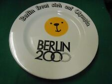Great Collectible Collector Plate- Berlin 2000 Olympics