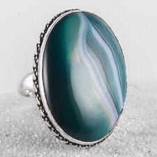 Super schöner Silber Ring, 925, Spitzenachat Achat mit zauberhafter Zeichnung 60