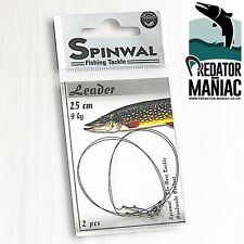 Spinwal Wolfram Leaders 9kg-25cm (2pcs)tungsten,trace,lure,dead bait wire leader