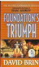 DAVID BRIN FOUNDATION'S TRIUMPH BK 3 SECOND FOUNDATION TRILOGY HCDJ 1998 1ST ED