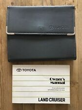 98-07 TOYOTA LANDCRUISER OWNERS MANUAL HANDBOOK PACK AND WALLET