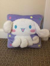 Cute Lavender Fuzzy 3D Wired Ears Sanrio Cinnamoroll Bunny Rabbit Pillow