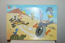 PUZZLE MB  BEEP BEEP ROAD RUNNER 35  PIECES COMPLET VINTAGE 1984