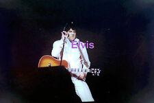 ELVIS PRESLEY IN RAINFALL SUIT WITH GUITAR CONCERT TOUR PHOTO CANDID