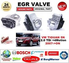 FOR VW TIGUAN 5N 2.0 TDi +4Motion 2007-ON Electric EGR VALVE 5-PIN OVAL PLUG