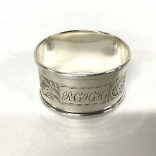 Vintage H&G.S Silver Plated Napkin Ring Oval#694