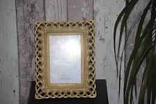 Bilderrahmen 10 x15  Fotorahmen Geflecht Rechteckig Rahmen  Gold TOP 21
