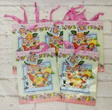 Mary Engelbreit Gift Bags Set of 5 Time for Tea Teapot Brand New 7x9 Ribbon