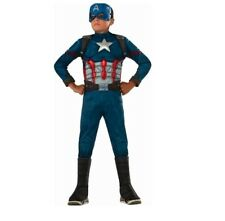 New Boys L 12-14 Avengers Captain America muscles boot tops complete Costume
