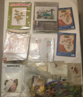 Vintage Cross Stitch Kits Vogart Sunset Paragon Napkins Calender Pillows