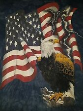 Patriotic American Eagle T-SHIRT USA American Flag  the mountain men's XL  SB7
