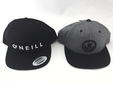 Lot of 2 Hats Baseball Caps O'neill Black Neff Gray Snapback Embroidered $49 New