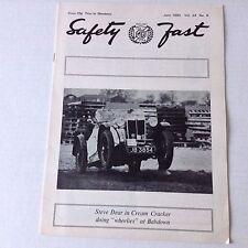 Safety Fast MG Car Club Magazine Steve Dear In Cream June 1980 070217nonrh