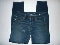 American Eagle Outfitters Super Stretch Skinny Womens 8 Jeans Dark Wash - S30@