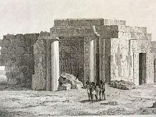 Afrique Nubie Soudan Égypte temple Semné forteresse Semna Soudan gravure XIX e