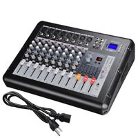 Professional Power Mixer Amplifier Amp 8 Channel USB 16DSP LCD Recording Studio