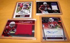 MICHAEL FLOYD - 4 Pc Lot - Onyx Black, Certified Red, Hot Rookies Auto, Score SP