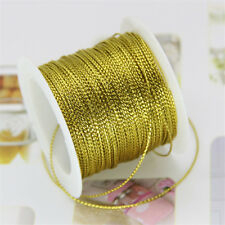20 Meters Gold Wire Cord Thread Rope Tag Clothes Wedding Party Gifts DIY Decor