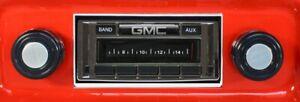 1967-1972 GMC Truck NEW AM FM Stereo Radio USA-230 200 watts Auxiliary input