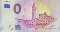 BILLET 0  EURO SIENA ITALIE  2019  NUMERO 1100