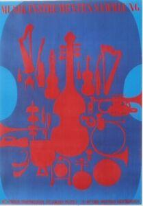 Original vintage poster MUSIC INSTRUMENTS MUSEUM EXPO c.1960
