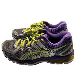 Asics Gel Kayano 21 Women's Size 7 Athletic Running Shoes Purple, Gray, & Green