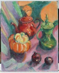 Josie Capstick 1932-1998 - Still life with Red teapot - Masterpiece