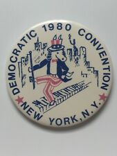 """1980 Democratic National Convention 3"""" Button President Jimmy Carter New York NY"""