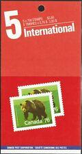 Canada sc#1178b Wildlife - Mammals : Grizzly Bear, Booklet Bk105b, Mint-Nh