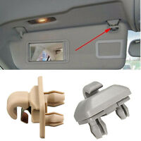 Gray Inner Sun Visor Hook Clip Bracket Fixed Fit For audi A3 A4L A5 Q3 Q5 New.