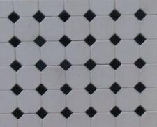 1/12th White Octagonal Floor Tiles - Dolls House