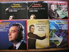 PROKOFIEV: THE SYMPHONIES  WALTER WELLER / LPO / LSO  6 LP  Audiophile  NM