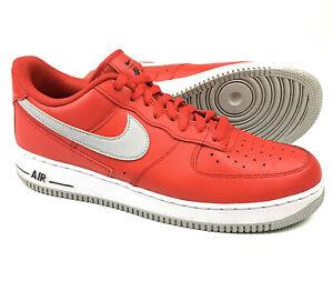 Nike Air Force 1 AF1 Low University Red Smoke Grey Shoes DD7113-600 Men's 11.5