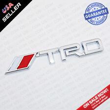 Universal TRD Fender Liftgate Sticker Badge Logo Emblem Decoration Gift - Chrome