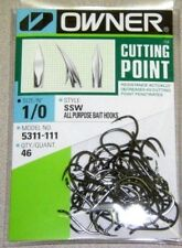 OWNER HOOKS SSW ALL PURPOSE BAIT 5311-111 SZ 1/0 QTY 46