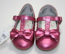 Disney Princess Dress Shoes Red Gold with glitter bows & low wedge heels strap