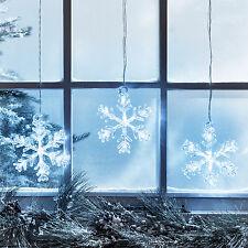 3er LED fiocchi di neve Natale Illuminazione INVERNALE DECORAZIONE