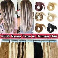 Clearance Tape In 100% Remy Human Hair Extensions Skin Weft Thick Full Head US
