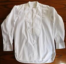 Vintage tunic shirt Neckband size 15 1/8 mens formal dress wear collarless