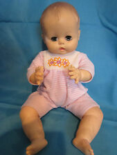 """Vintage 1959 Effanbee Drink and Wet with Molded Hair Baby Doll 14"""" tall"""