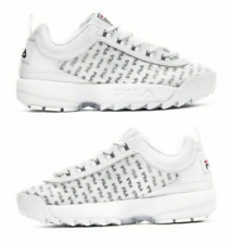 Fila Disruptor II Clear Logos Shoes Size 9 Women's White Platform NIB