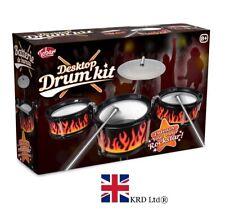 DESKTOP DRUM KIT Kids Musical Instrument Desk Table Top Toy Christmas TO Gift UK