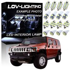 16Pcs White 6000K LED Lights Interior Package Kit Fits for 2005-2010 Hummer H3
